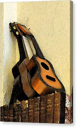 Ukes Canvas Print by Everett Bowers