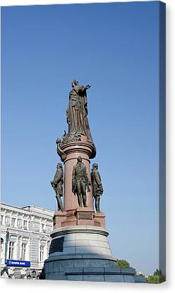 Ukraine, Odessa Downtown Odessa, Statue Canvas Print by Cindy Miller Hopkins