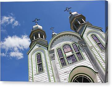 Canvas Print featuring the photograph Ukrainian Orthodox Church - Wroxton by Ryan Crouse