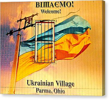 Ukrainian Village Ohio Canvas Print by Frozen in Time Fine Art Photography