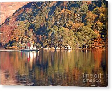 Ullswater Steamer Canvas Print by Linsey Williams