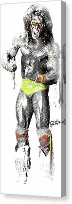 Ultimate Warrior By Gbs Canvas Print by Anibal Diaz