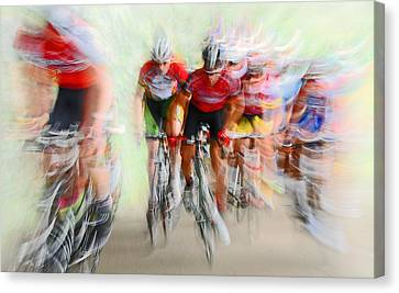 Painterly Canvas Print - Ultimo Giro # 2 by Lou Urlings