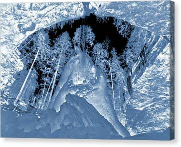 Ultraviolet Cave In Winter Canvas Print