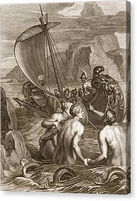 Companion Canvas Print - Ulysses And His Companions Avoid by Bernard Picart