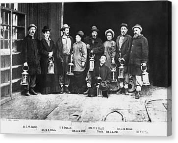 Ulysses S. Grant Visits Mine Canvas Print