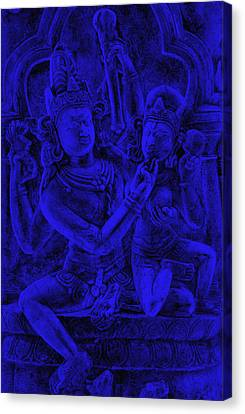 Love Making Canvas Print - Uma Maheshvar In Alingan Mudra by Bliss Of Art