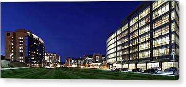 Western Ma Canvas Print - Umass Memorial Medical Center  by Juergen Roth