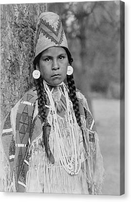 Indigenous Canvas Print - Umatilla Girl Circa 1910 by Aged Pixel