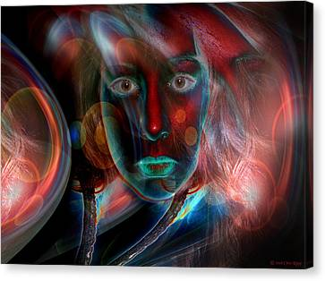 Canvas Print featuring the digital art Umbilical Connection To A Dream  by Otto Rapp