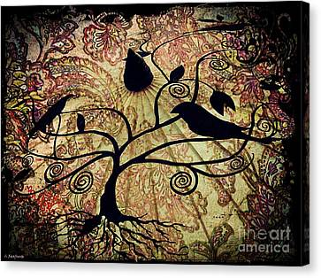 Umbrella Birds Canvas Print