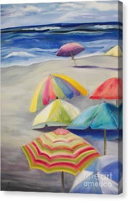 Umbrella Day Canvas Print