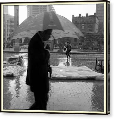 Umbrella Man Canvas Print by Daniel Gomez