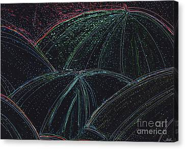 Umbrella Night By Jrr Canvas Print by First Star Art