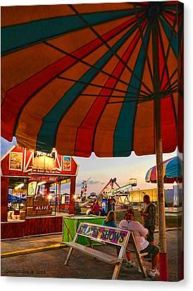 Umbrella View Canvas Print by Grace Dillon