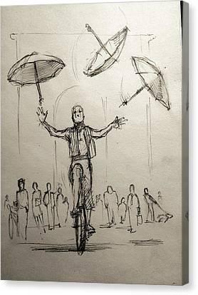 Umbrellas Canvas Print by H James Hoff