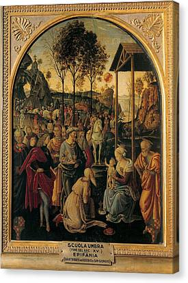 Umbria Artist, End Of 15c, Adoration Canvas Print by Everett