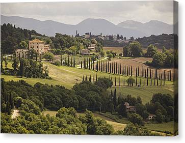 Canvas Print featuring the photograph Umbria by Uri Baruch