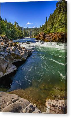 Canvas Print featuring the photograph Umpqua River by David Millenheft