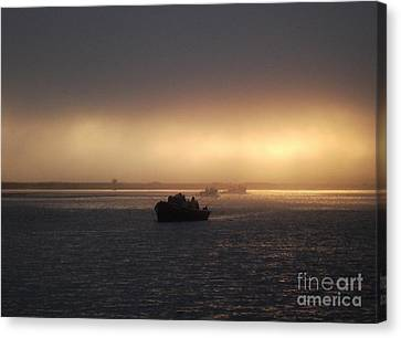 Umpqua River Sunrise Canvas Print by Erica Hanel