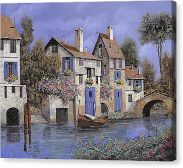 I Ask Canvas Print - Un Borgo Tutto Blu by Guido Borelli