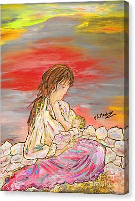Un Pensiero Costante Canvas Print by Loredana Messina