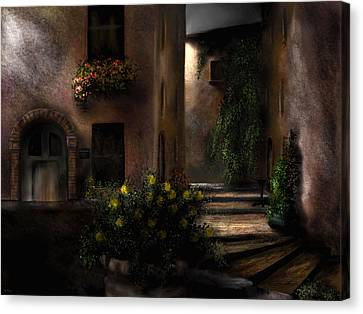 Una Notte Tranquilla - A Quiet Night Canvas Print
