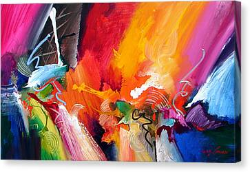 Expressionist Canvas Print - Unbounded Ecstasy by Jonas Gerard