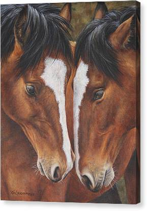 Canvas Print featuring the painting Unbridled Affection by Kim Lockman