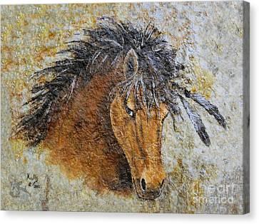 Stone Pony Canvas Print - Unbridled by Kally Wininger