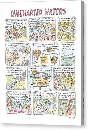 Sea And Sky Canvas Print - 'uncharted Waters' by Roz Chast