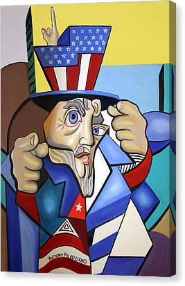 Uncle Sam 2001 Canvas Print by Anthony Falbo