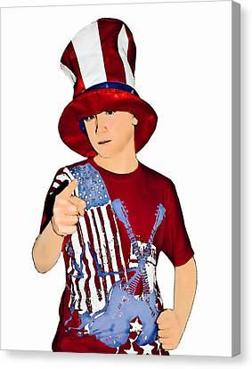Uncle Sam Canvas Print by Susan Leggett