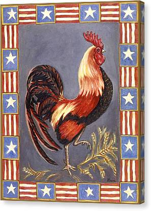 Uncle Sam The Rooster Canvas Print by Linda Mears