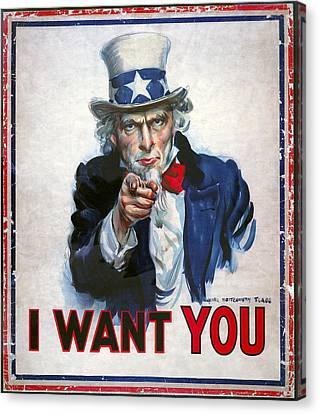 Uncle Sam Wants You Canvas Print by Daniel Hagerman