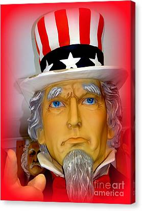 Uncle Sam Wants You Canvas Print by Ed Weidman