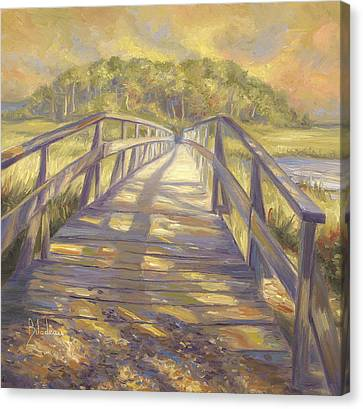 Uncle Tim's Bridge Canvas Print by Lucie Bilodeau