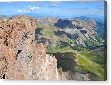 Uncompahgre Peak Summit Canvas Print by Aaron Spong