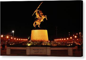 Unconquered At Williams Plaza On Langford Green Canvas Print by Frank Feliciano