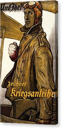 Und Ihr Canvas Print by Fritz Erler