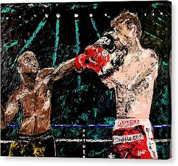 Undefeated - Floyd Mayweather Jr  Canvas Print by Mark Moore