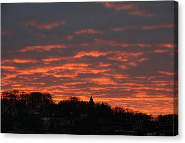 Under A Blood Red Sky Canvas Print by Neal Eslinger