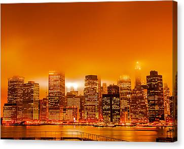 Under A Blood Red Sky Part One Canvas Print by Alex Hiemstra