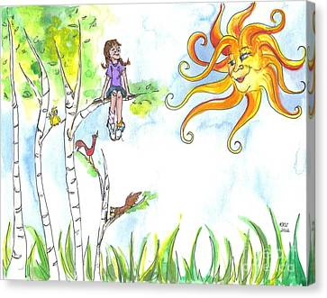 Under A Sunny Sky Canvas Print by Kelly Walston