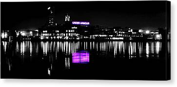 Under Amour At Night - Vibrant Color Splash Canvas Print