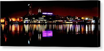 Under Armour At Night Canvas Print by William Bartholomew