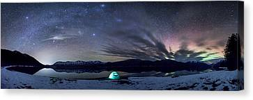 Canvas Print featuring the photograph Under Big Skies by Aaron Aldrich