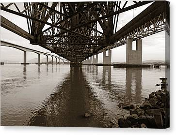 Under Bridges Canvas Print by Donna Blackhall