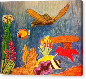 Under Da Sea Canvas Print by Kolene Parliman