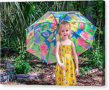 Canvas Print featuring the photograph Under My Umbrella by Rob Sellers